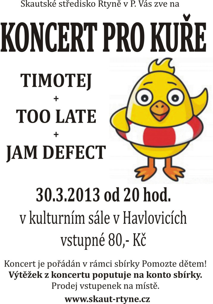 Pozvánka na Koncert pro Kuře