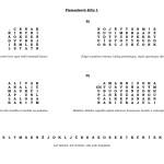 Písmenkové šifry I. - výsledek