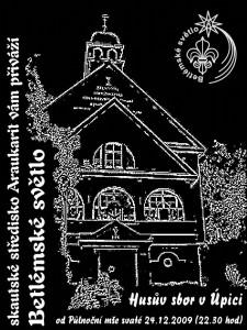 Plakát k betlémskému světlu 2009
