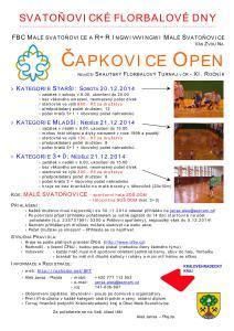 Zvadlo na 11. ročník florbalového turnaje Čapkovice Open